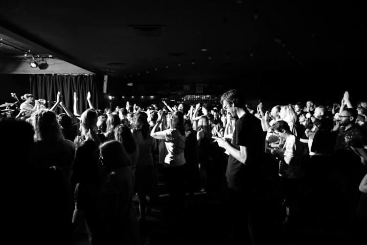 Audience at a Film School, Saatsuma and Couture gig at the Northcote Social Club, 2017. Photo by Peter Cahill.